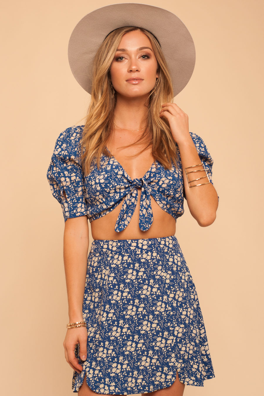 For Love and Lemons: Zamira Floral Crop Top