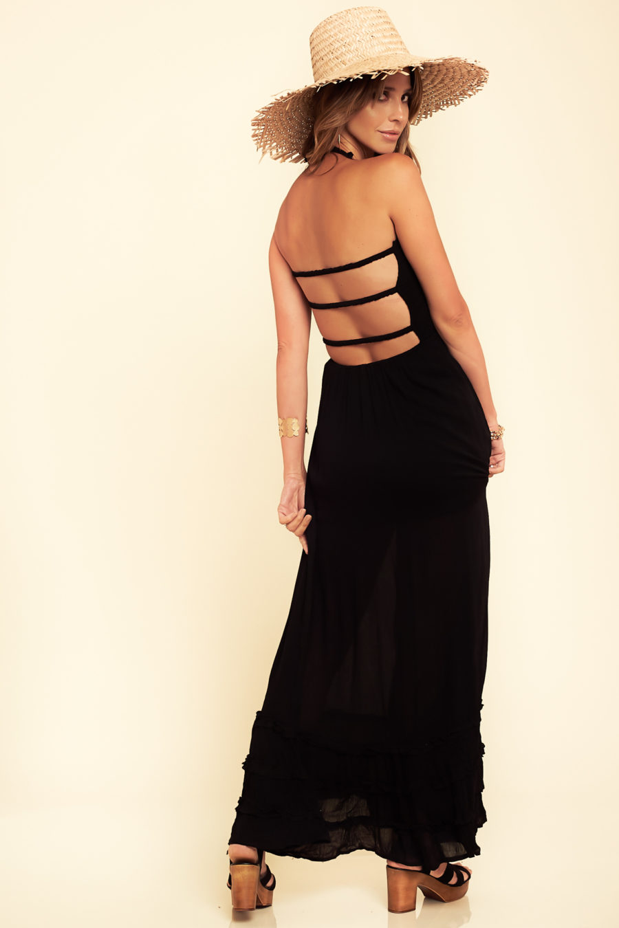 Nights in Paradise Dress in Black