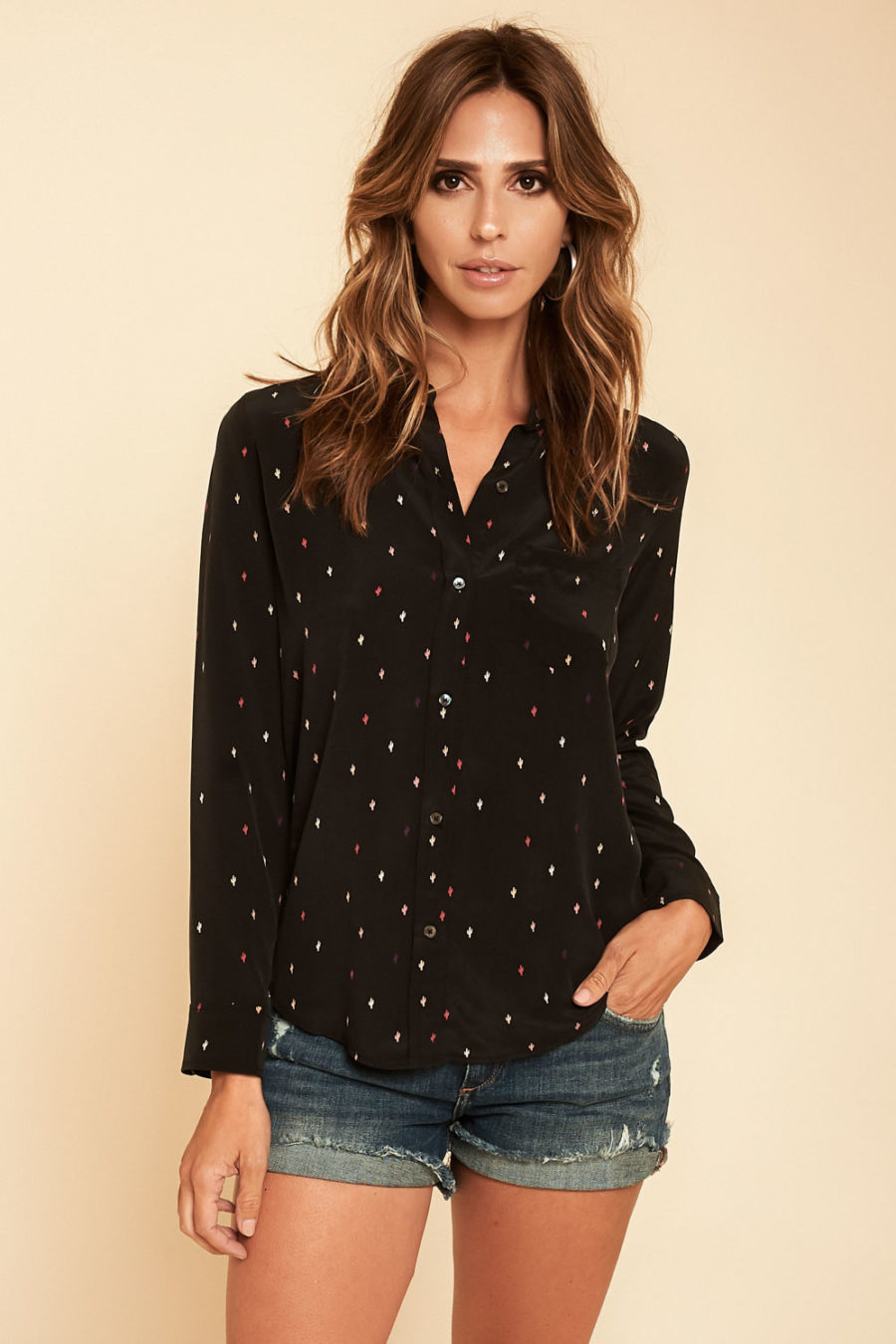 Rails: Kate Silk Top in Black