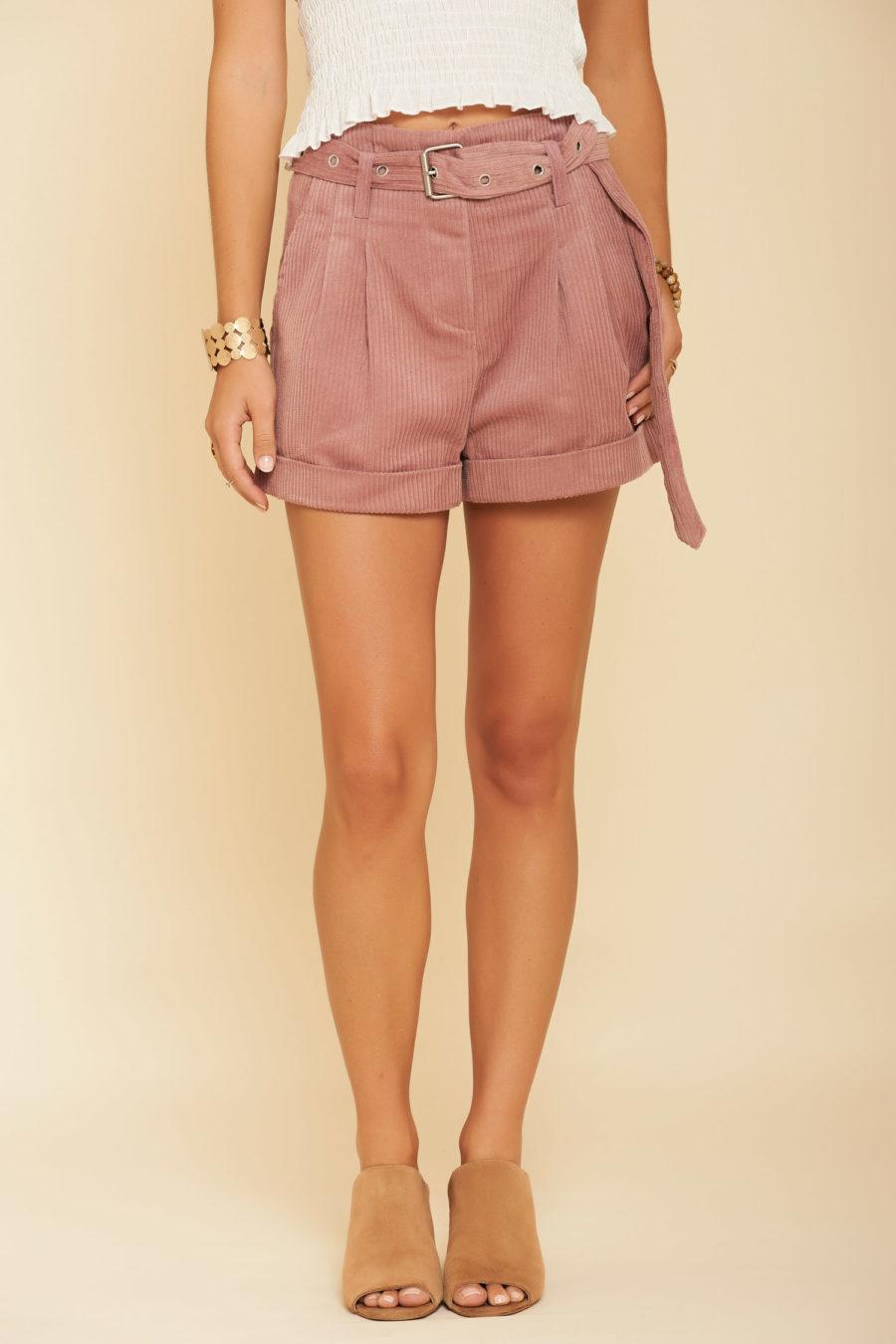 School Girl Chic Corduroy Shorts