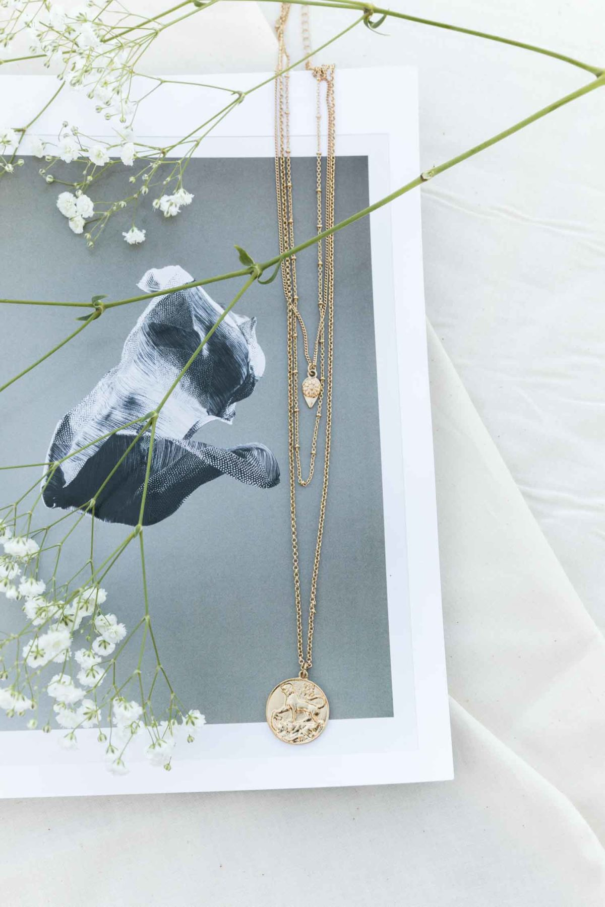 Layers of Coin Necklace in Gold