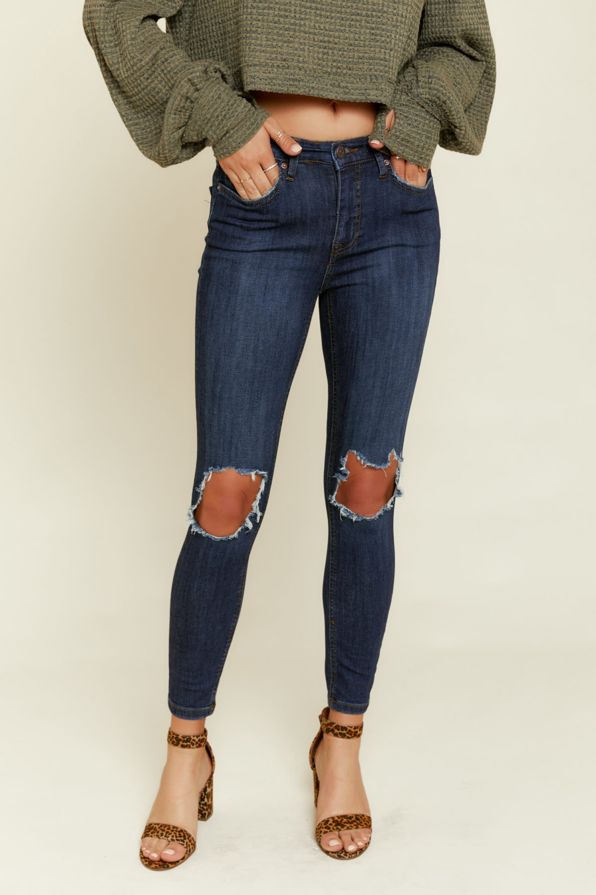 Free People: High Rise Busted Jeans