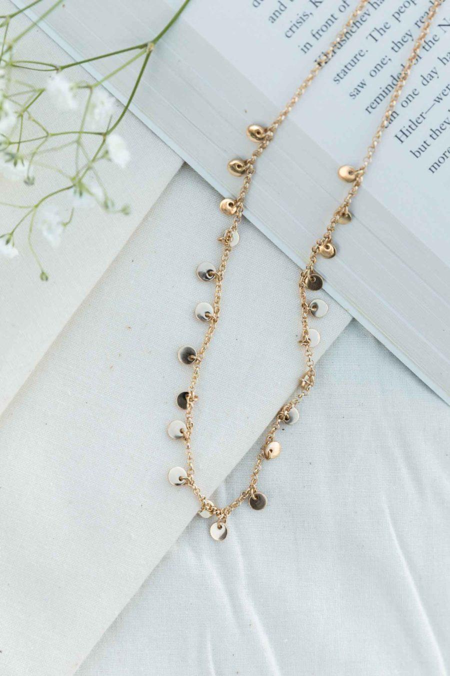 Mediterranean Sands Choker Necklace in Gold