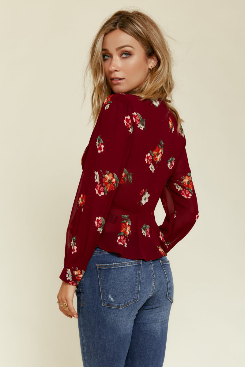 ASTR the Label: Laney Top in Burgundy
