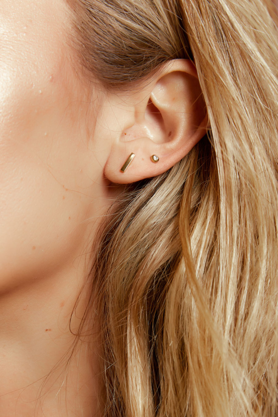 Simply Stunning Bar Studs in Silver