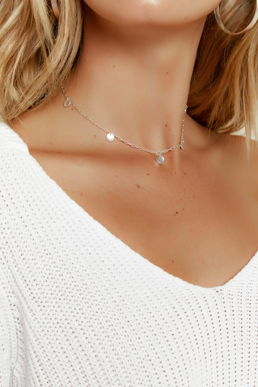 Lost in Silver Choker Necklace