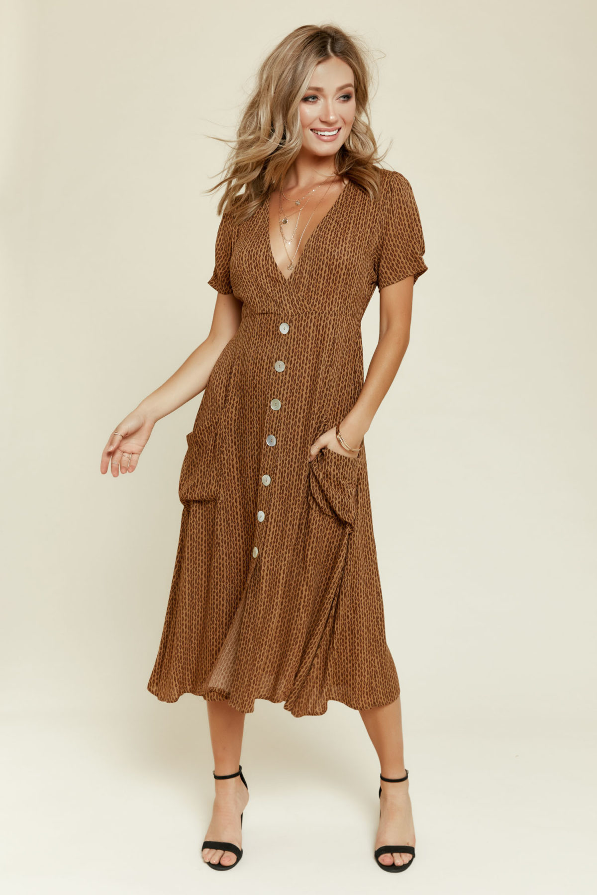 Winter in Casablanca Midi Dress