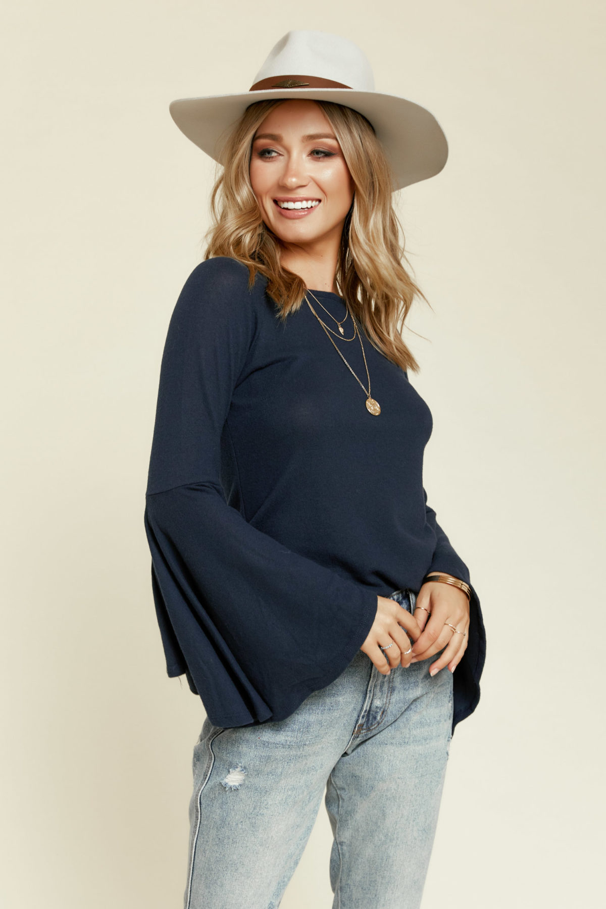 Sage the Label:  Freespirit Bell Sleeve Top