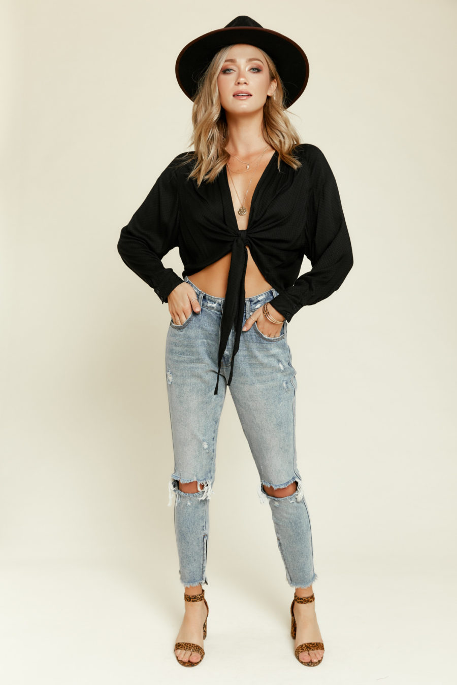 Away for the Week Wrap Top