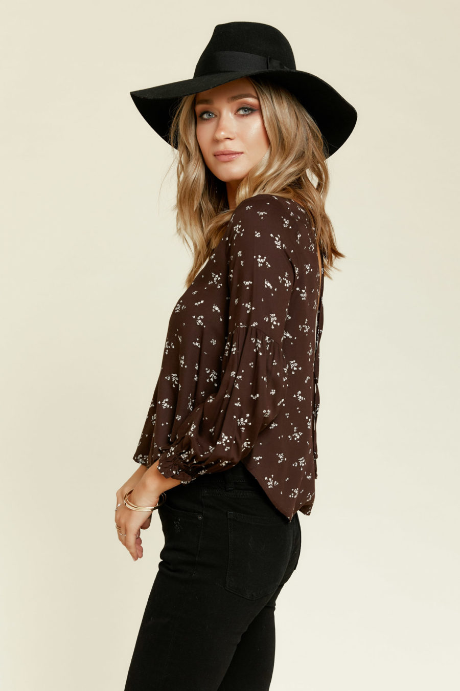 Saltwater Luxe: Iris Blouse in Graphite