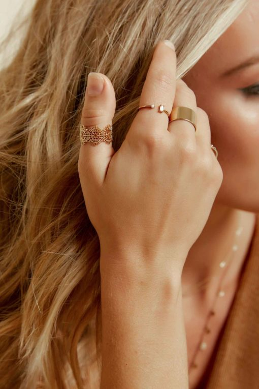 Jewels of Gold Adjustable Ring