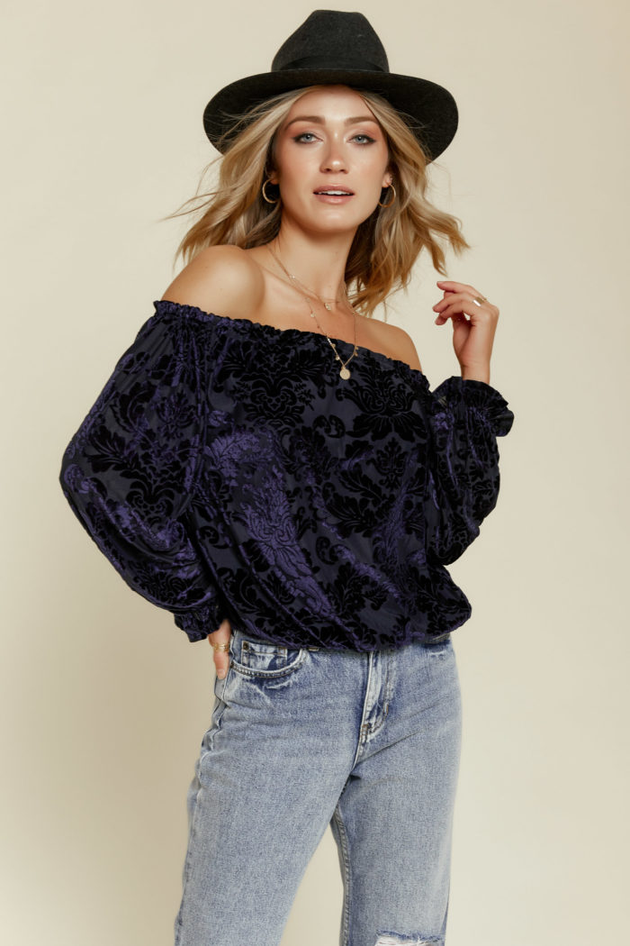 Velvet Dreams Off the Shoulder Top