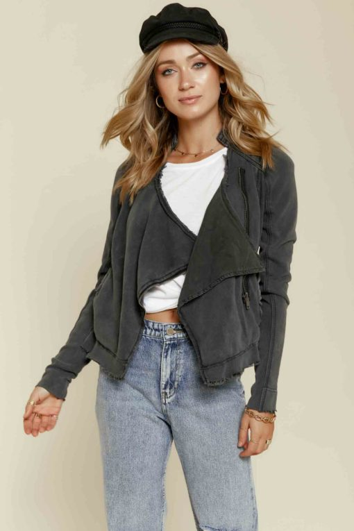 Free People: Shrunken Moto Jacket