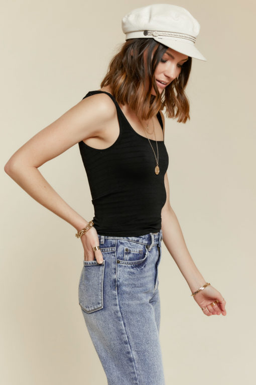 Free People: Square One Cami in Black