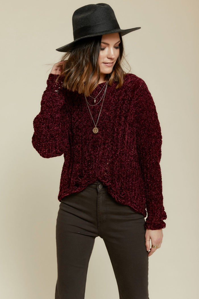 Lost in Lust Distressed Sweater