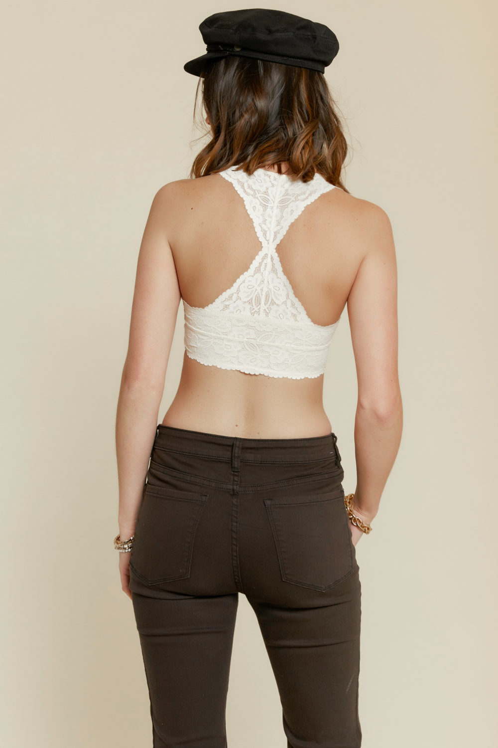 Free People: Galloon Lace Bralette in Ivory