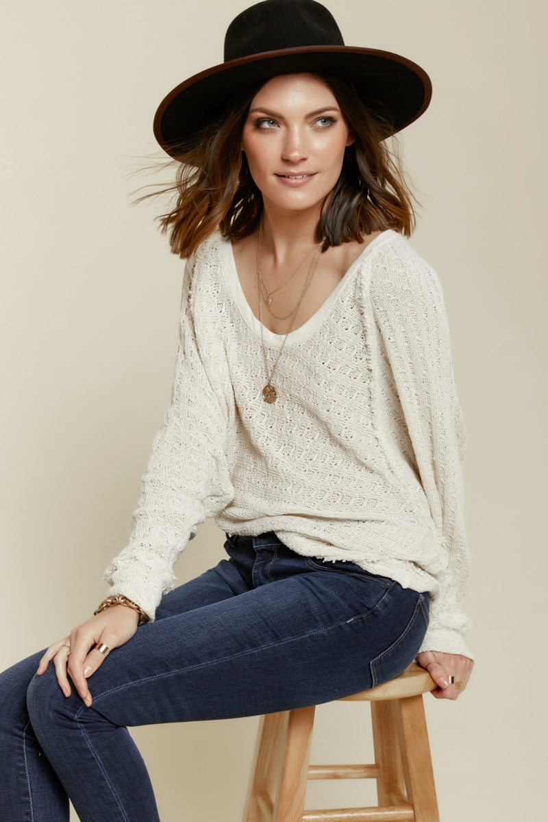 Free People: Thien's Hacci Sweater