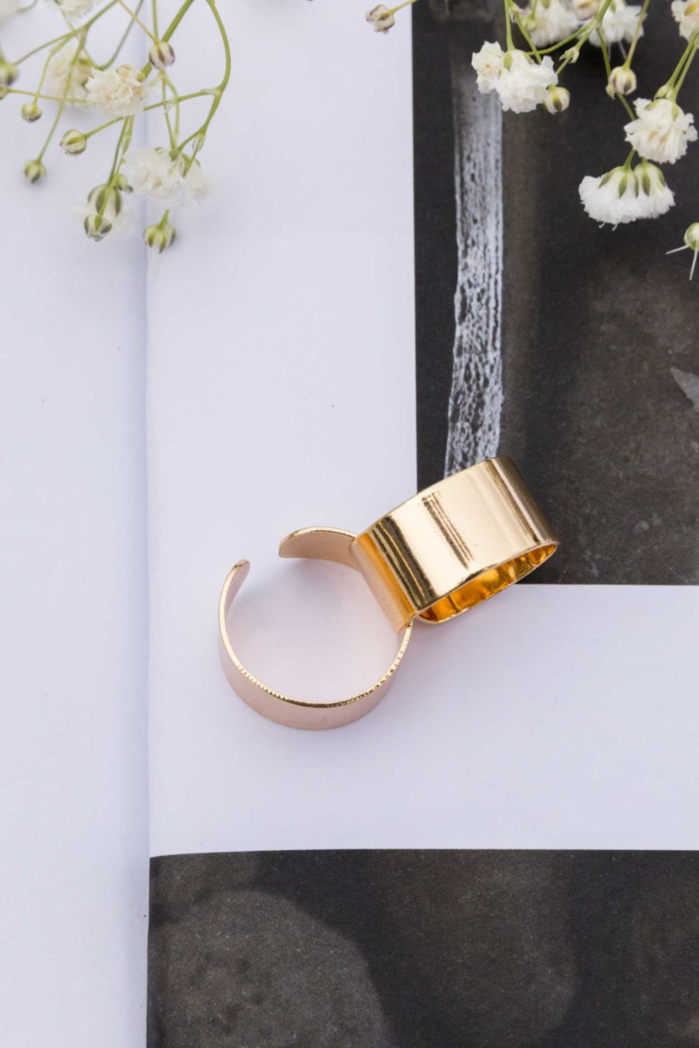 Simply Sleek Adjustable Ring in Gold