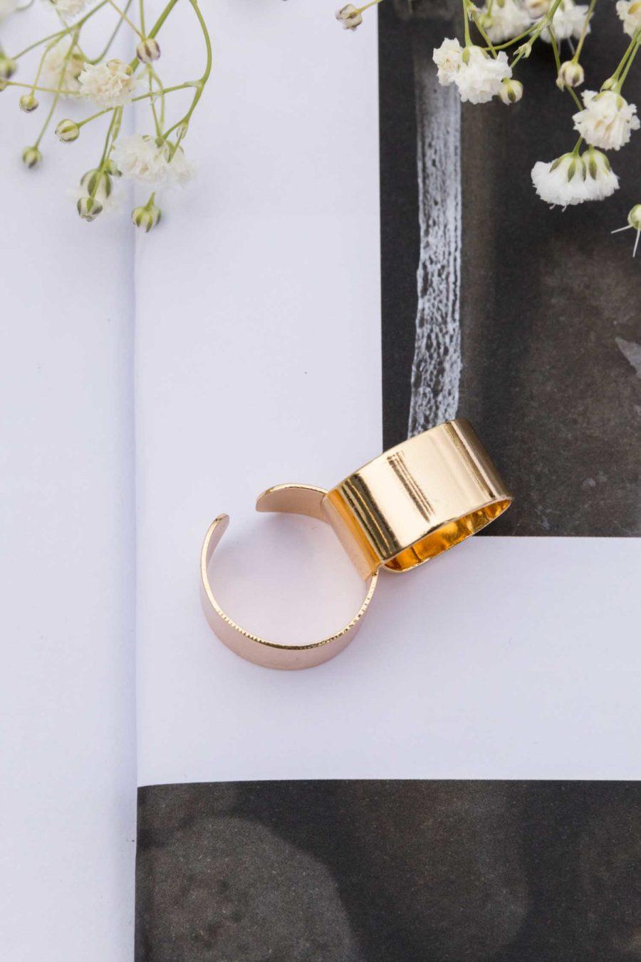 Simply Sleek Adjustable Ring in Gold