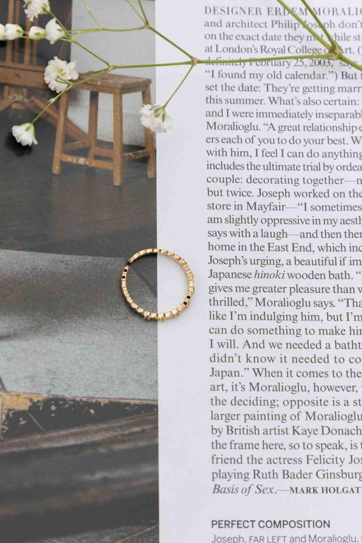 Rhinestones of Gold Ring