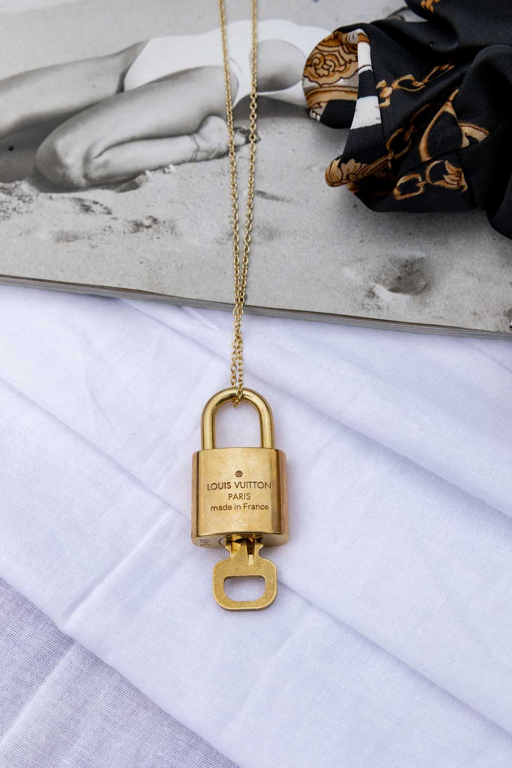 T(H)ORN VINTAGE: Vintage Louis Vuitton Lock Necklace