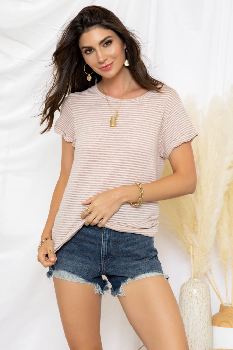 Groceries Apparel: Randy Striped Tee