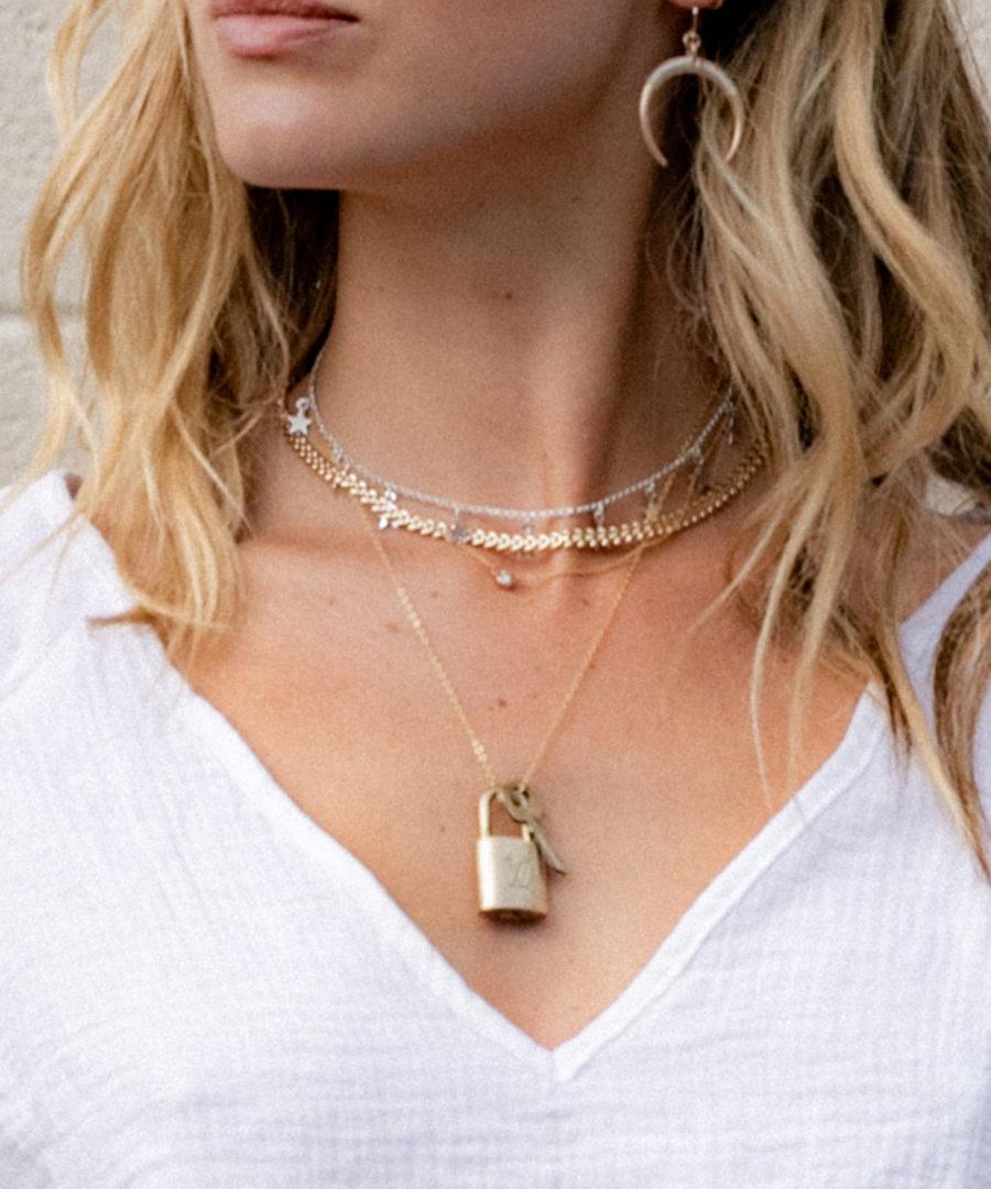 Vintage Louis Vuitton Lock Necklace